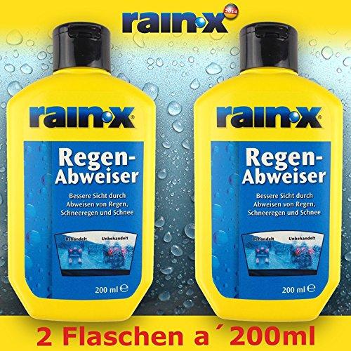 2x Rain X Regenabweiser 200ml Auto Scheibenreiniger Glasreiniger Scheibenwischer