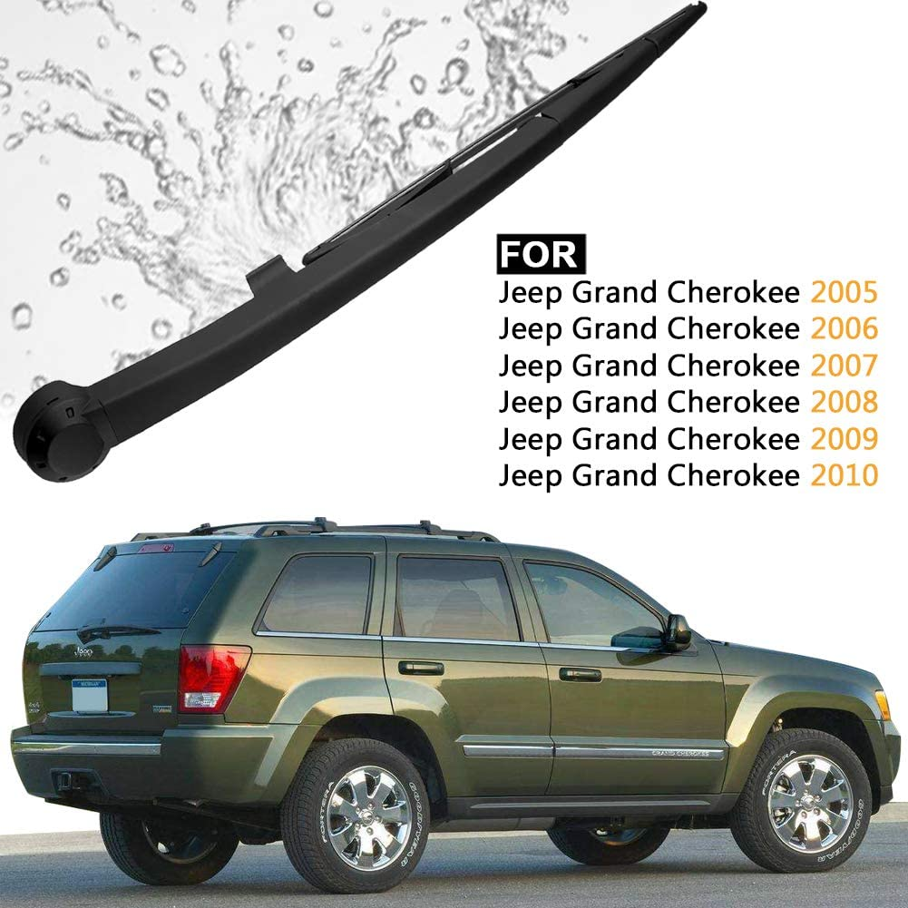 AUTOBOO Rear Wiper Blade with Arm for Jeep Wrangler/2007-2016/JK 2 Door Unlimited 4 DR//OE:/68002490AB //Rear Window Wiper Arm Blade for/2007-2016/Jeep Wrangler JK Blade:13