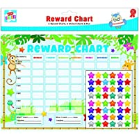 6 x Reward Charts Childrens Jungle Themed Behaviour/Chore