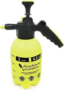 Anytime Garden Hand Garden Sprayer - Handheld Pressure Sprayers Sprays Water, Neem Oil and Weeds - Perfect Lightweight Water Mister, Lawn Sprayer Combo (2 Litre)