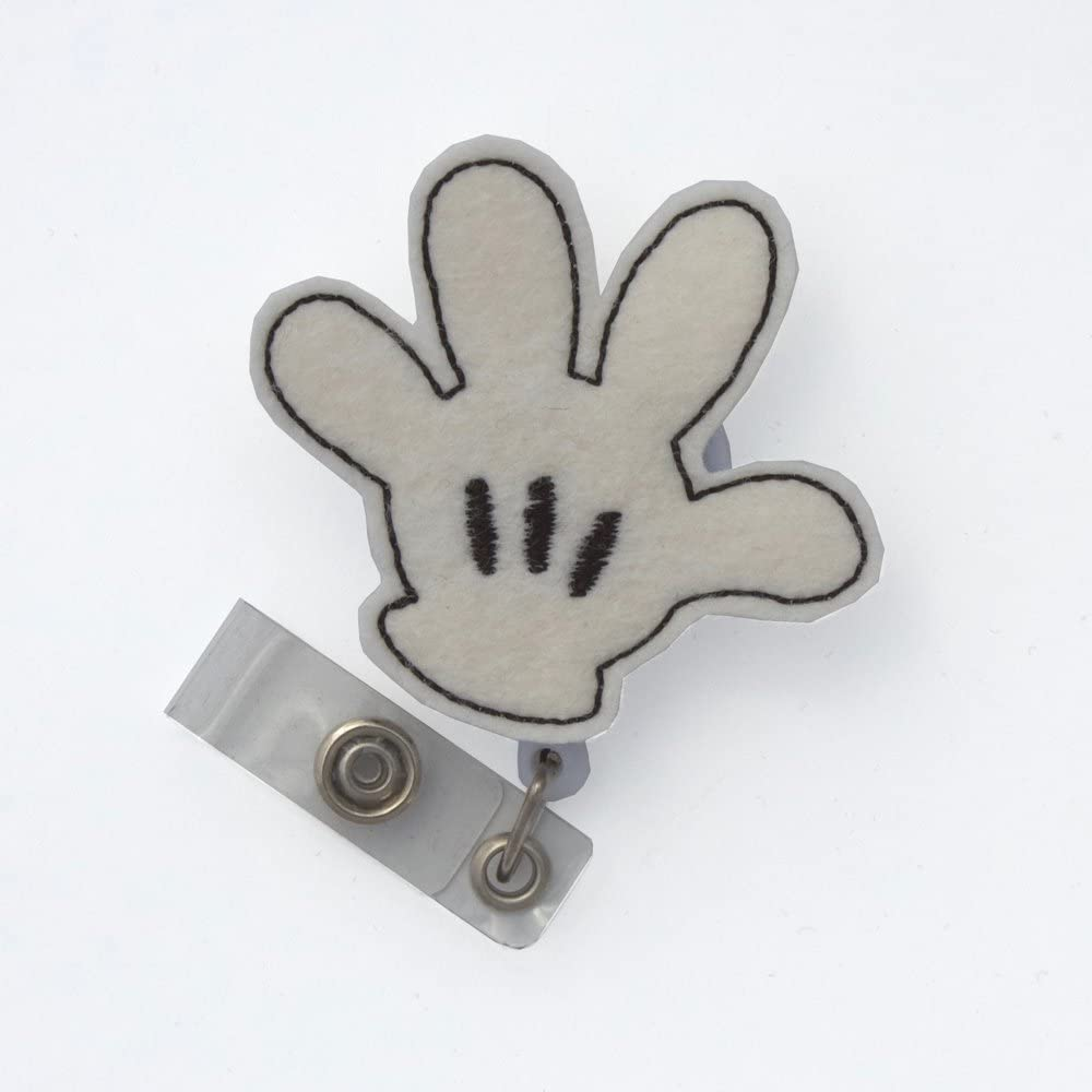 Mouse Glove Badge Reel
