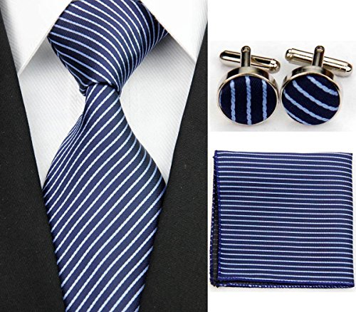 Navy Blue Square Cufflinks - 3