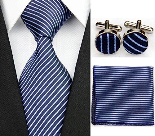 Navy Blue Square Cufflinks - 8