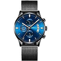 Asusual CRRJU Men's Watch Waterproof Calendar Steel Mesh with Chronograph Quartz Watch