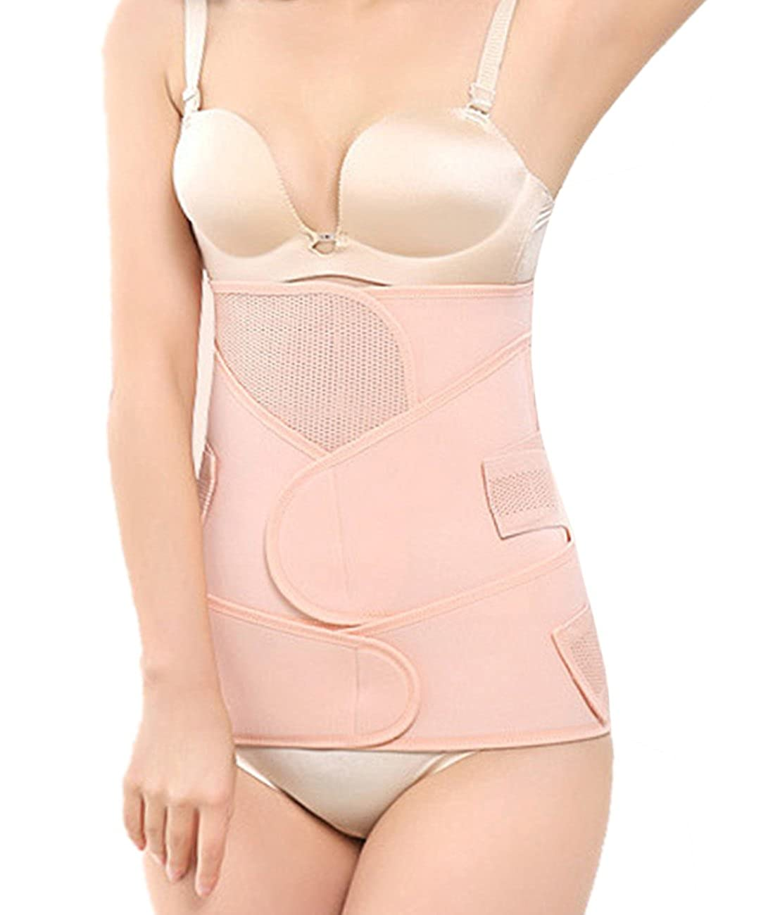 Women 3 in 1 Postpartum Girdle C Section Corset Recovery Belly Band Wrap Belt DDA60/&/&001002