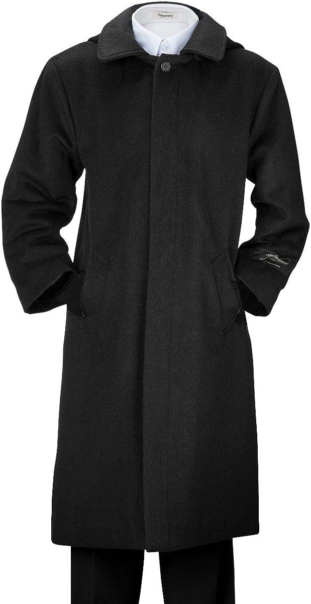 De Valoure Boys' Winter Wool Long Dress Coat Hooded Formal with Full Back Pleat Navy & Grey: Clothing