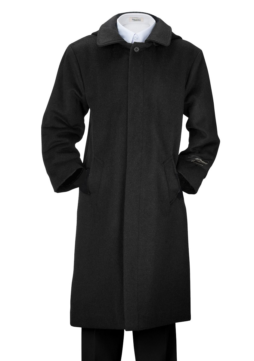 De Valoure Boys' Charcoal Gray Warm Winter Wool Long Dress Coat with Hood and Full Back Pleat Great for Holidays, Parties, Holiday Gift, All Formal events 8 by De Valoure (Image #1)