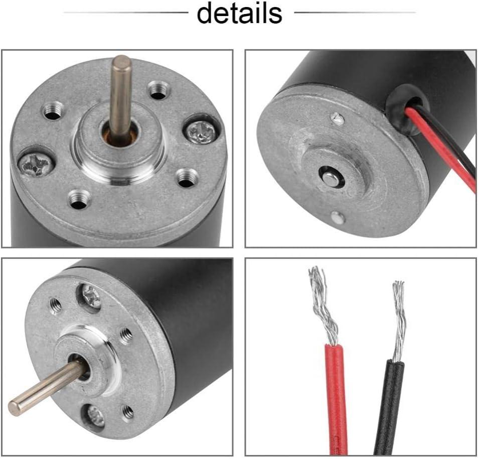 6 V 4000 U//min 31ZY Permanentmagnet-Motor 24 V 3500-8000 U//min Permanentmagnet-Gleichstrommotor Elektrob/ürstenmotor CW//CCW 6 V 12 V