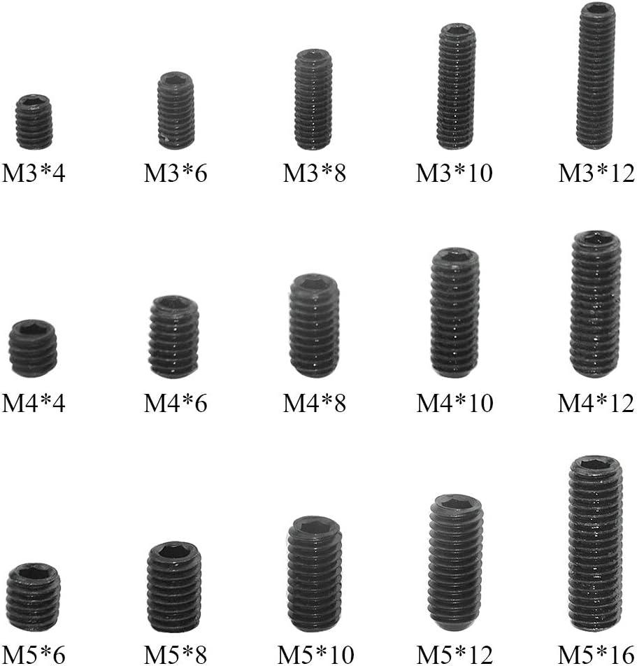 150 pcs Kit de Surtido Tornillo Tuerca Arandela en Caja Kit de Fijaci/ón de Tornillo de Nylon de M2 M2.5 M3 M4 M5