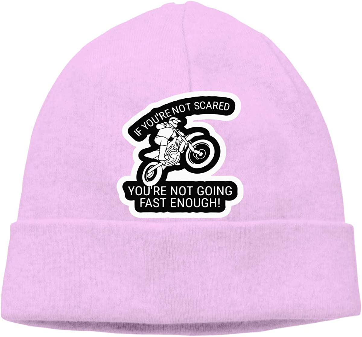 Men Women Dirt Bike If Your Not Scared Soft Skull Cap Soft Hat