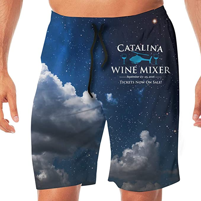 f9ac81a380 Amazon.com: Catalina Annual Wine Mixer Men's Classic Summer Shorts Casual Swim  Shorts with Pockets: Clothing