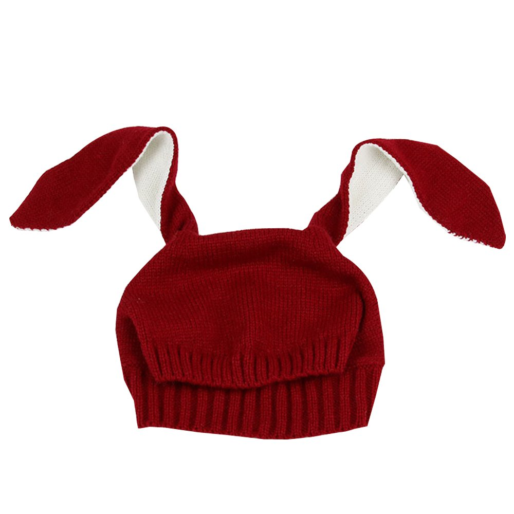 KINDOYO Baby Knitted Cartoon Bunny Ear Hat , Winter Warm Hat 0-5Years Old