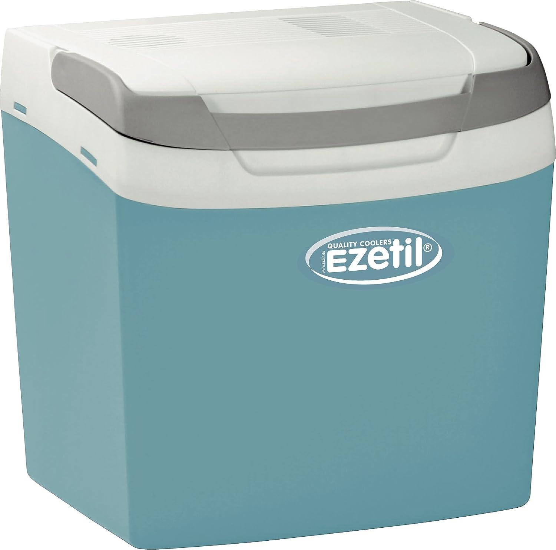 Ezetil E26A Thermoelektrische Kühlbox 12/230V, Türkisblau/Weiß