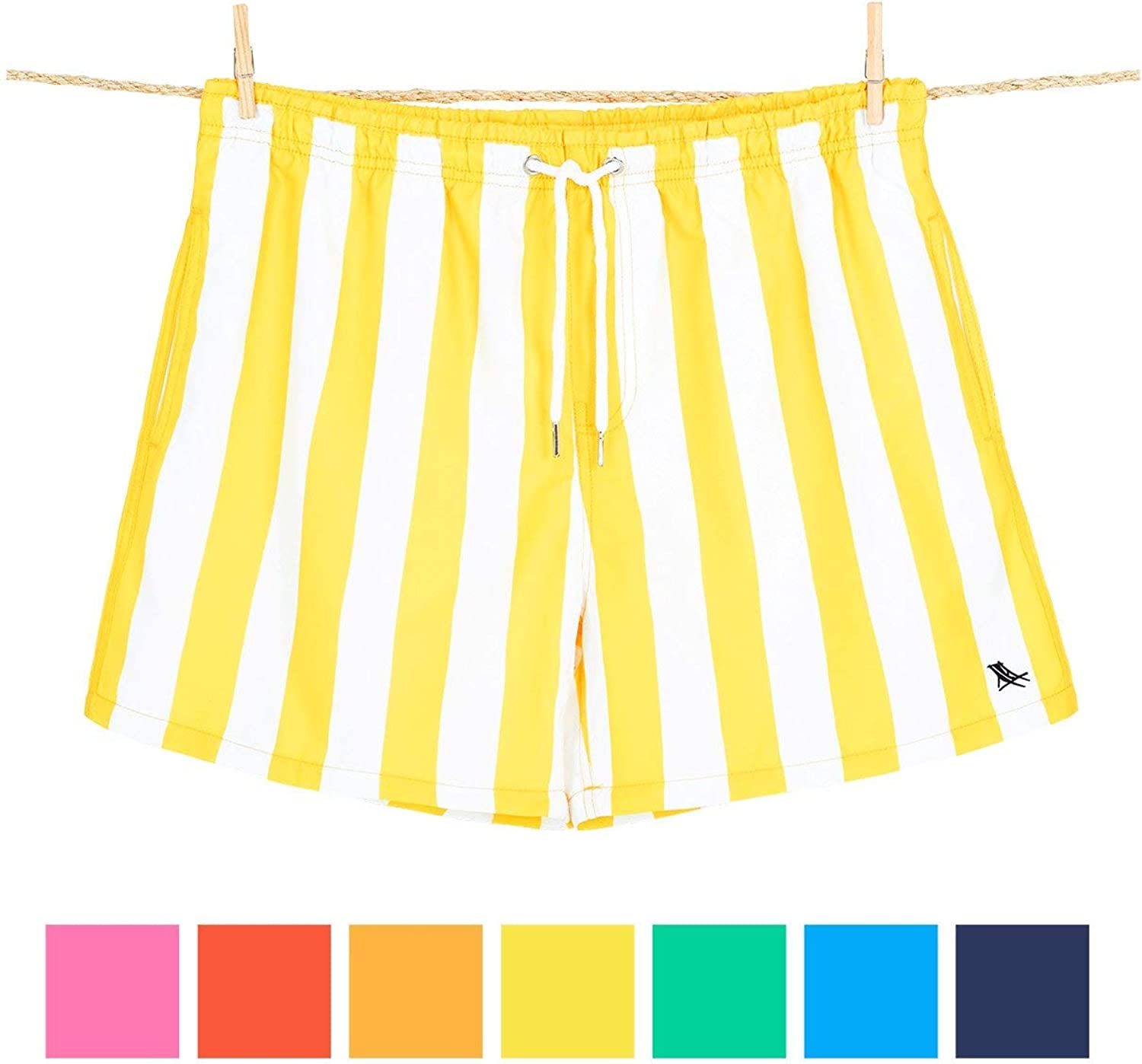 Board Shorts /& Swimming Trunks for Men Swim Shorts Beach Shorts for Swimming Pool Made from 100/% Recycled Water Bottles Travel Dock /& Bay Quick Dry Mens Swim Trunks