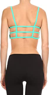product image for Dippin' Daisy's Solid Mint Women's Dual Horizontal Strap Sports Bra (Includes Bra Cups)
