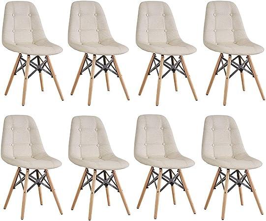 Sedie Design Legno E Pelle.Zcxbhd Stile Eiffel Sedie Pranzo Naturale Solido Gambe Legno E
