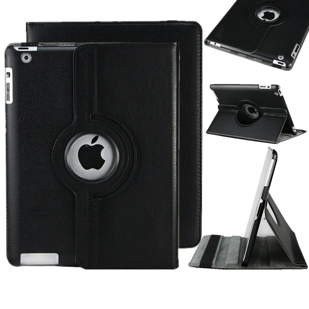 Stylish Apple Ipad air2 (2014-15)/ Ipad 6 360 Rotating Magnetic PU Leather Case (Black) Smart Cover Stand for Apple Ipad air2 (2014-15)/ Ipad 6 TB1 Products ®