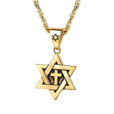 Prosteel menwomen magen star of david cross pendant necklace jewish prosteel menwomen magen star of david cross pendant necklace jewish jewelry 18k gold plated aloadofball Gallery