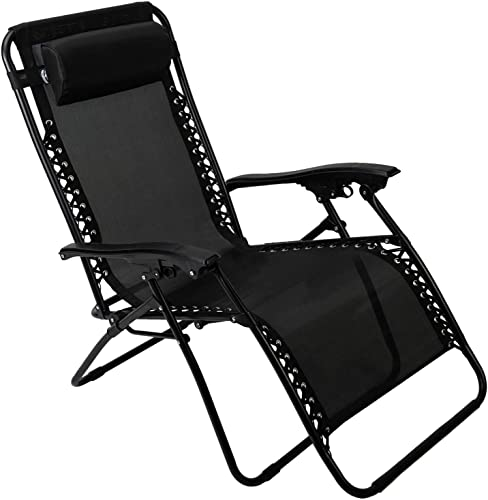 Pacific Pass Zero Gravity Chair Folding Patio Recliner Adjustable Anti Gravity Lounge Chair
