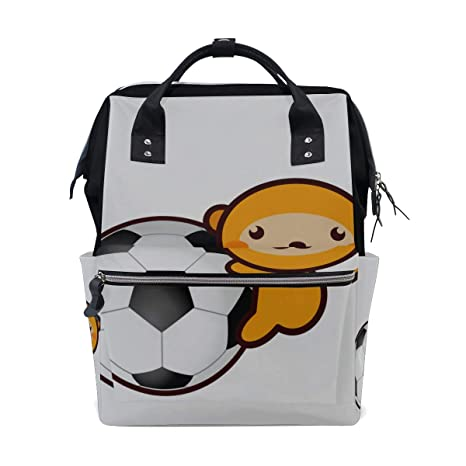 Mono divertido Jugador de fútbol Bolsas de pañales de gran ...