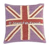 5 Pcs Indian Jute Cushion Cover Jute Cushions Kilim Pillow Cases Handmade Jute Cushions Hand Woven Jute Euro Sham