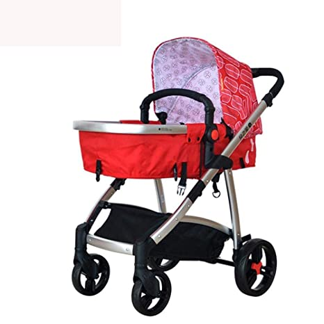 Ambiguity Sillas de Paseo,Cochecito de bebé Puede ser reclinado Paisaje Alto Mesa Portable para