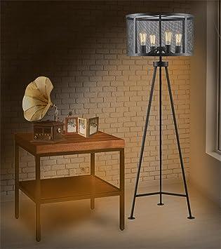 interrupteur pdale style industriel en fer forg lampe de sol trpied - Interrupteur Style Industriel