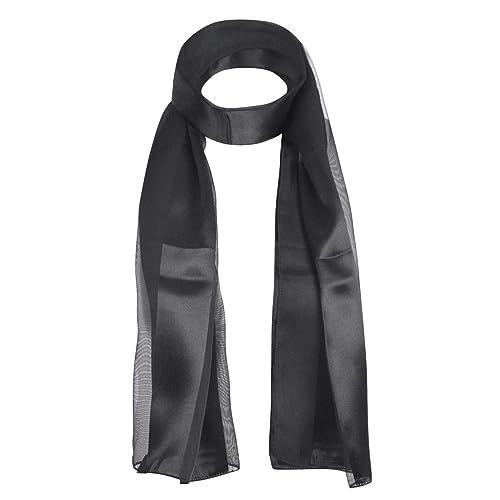 Morbida ed elegante sciarpa in chiffon lucido a righe, l'accessorio perfetto per qualsiasi outfit