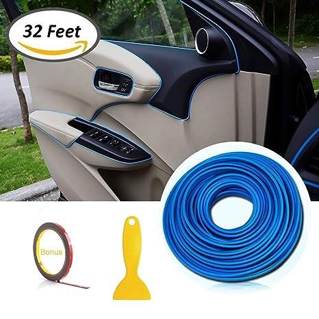 Tiras de molduras interiores para autos - AUTOMAN Tiras de molduras para autos de decoración de 32 ...