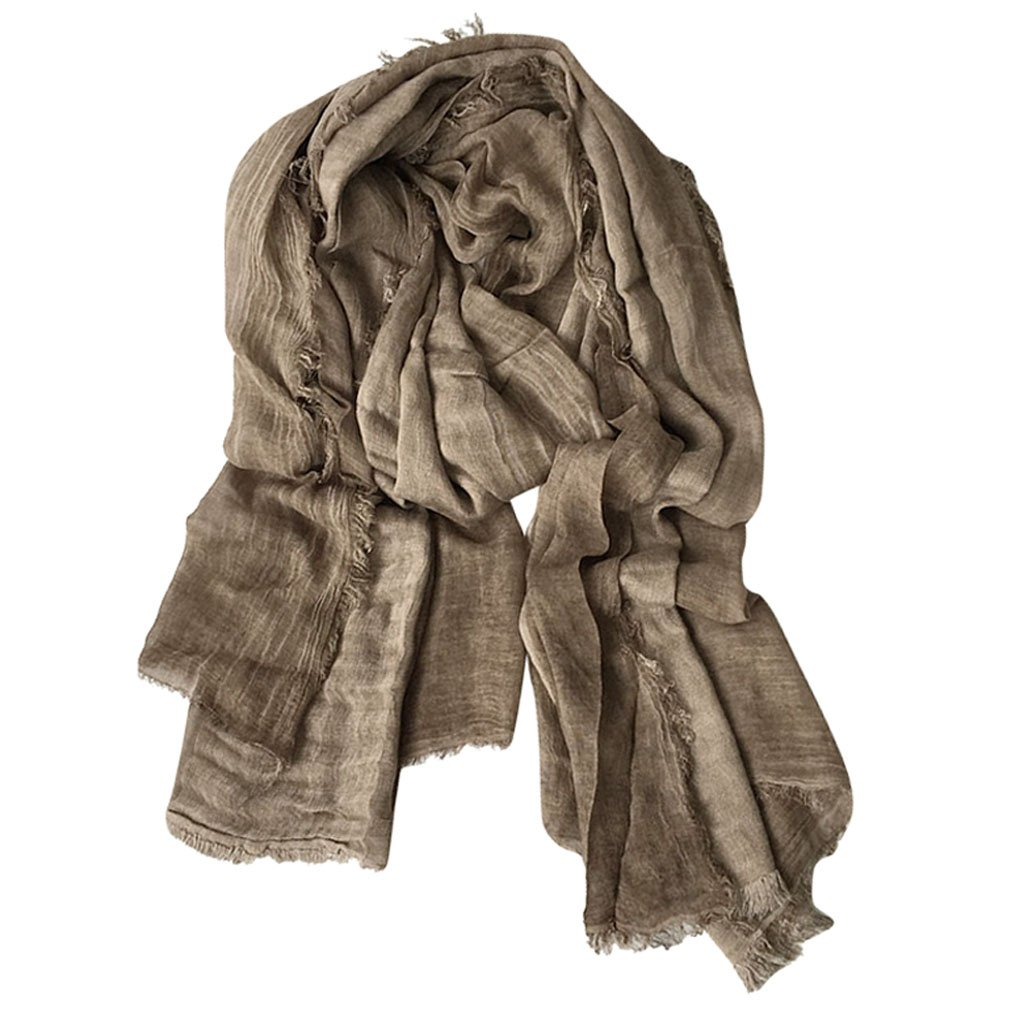 GERINLY Lightweight Men Scarves Soft Warm Crinkle Scarf (Grey) 4b9-72d39fb