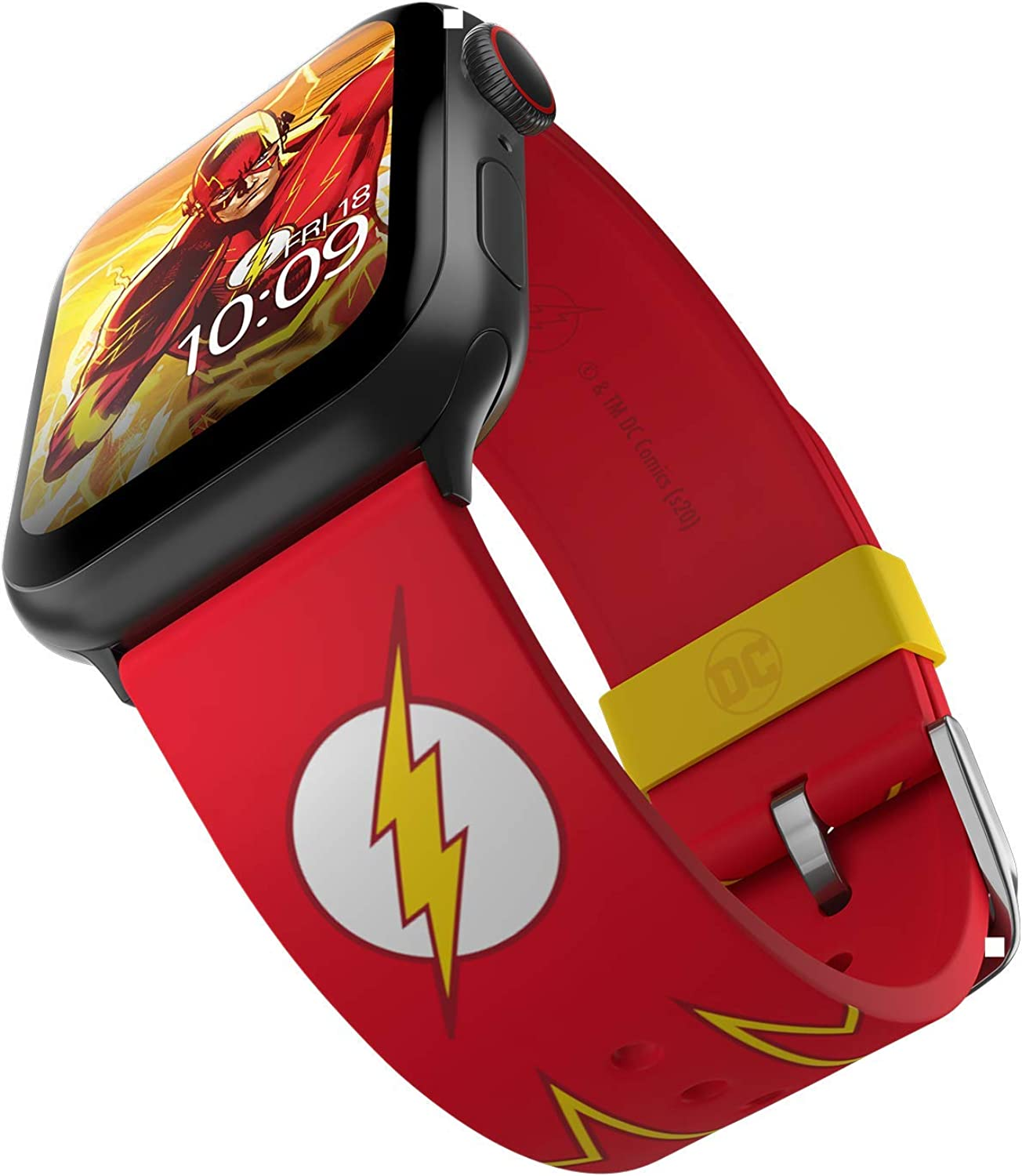 DC Comics – The Flash Tactical Smartwatch Band – Officially Licensed, Compatible with Apple Watch (not included) – Fits 38mm, 40mm, 42mm and 44mm