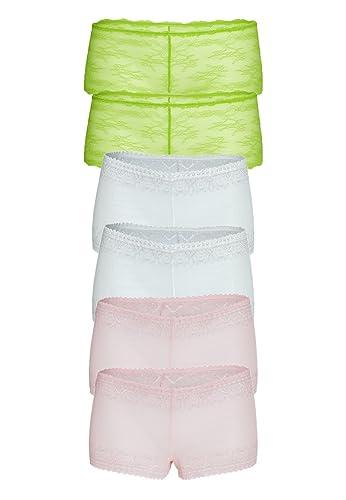 braboo - Shorts - para mujer Rosa Weiß Grün L