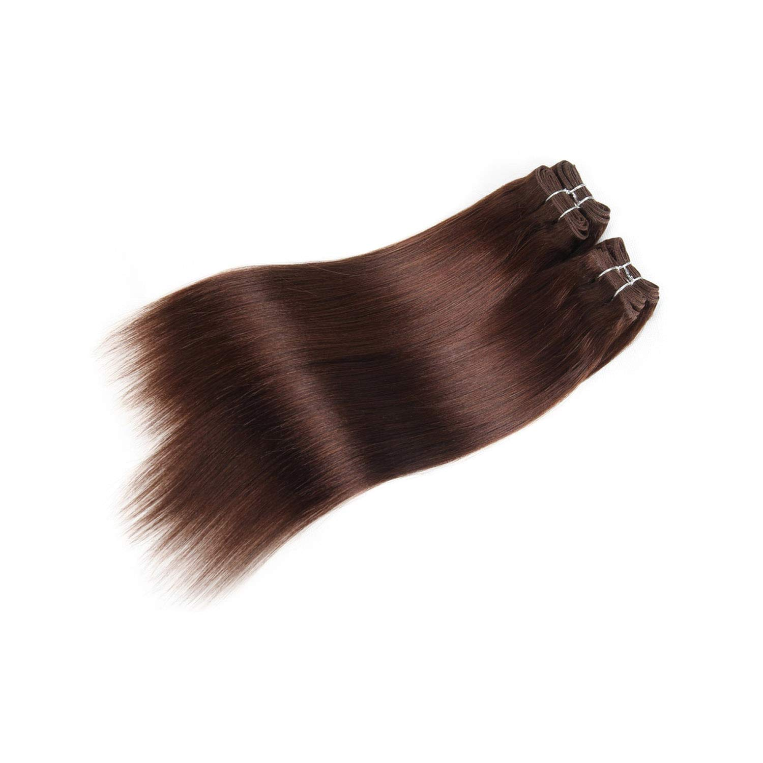 Crystal Grass Brazilian Yaki Straight Human Hair Bundles 4 Bundles Deal 190G 1 Pack Red Hair Non Remy 1B 2 4 99J Burg Hair Extension,8 8 10 10,#4 by Crystal Grass-Hair