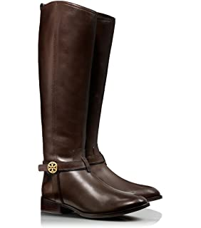 69a0da4277b1 Tory Burch Bristol Leather Logo Riding Knee High Boots