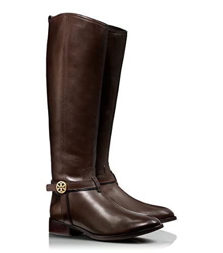c2a0eb0fa6d Tory Burch Bristol Leather Logo Riding Knee High Boots (7.5