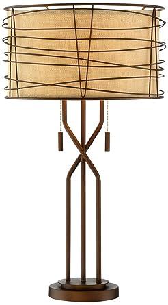 Charmant Marlowe Woven Metal Table Lamp