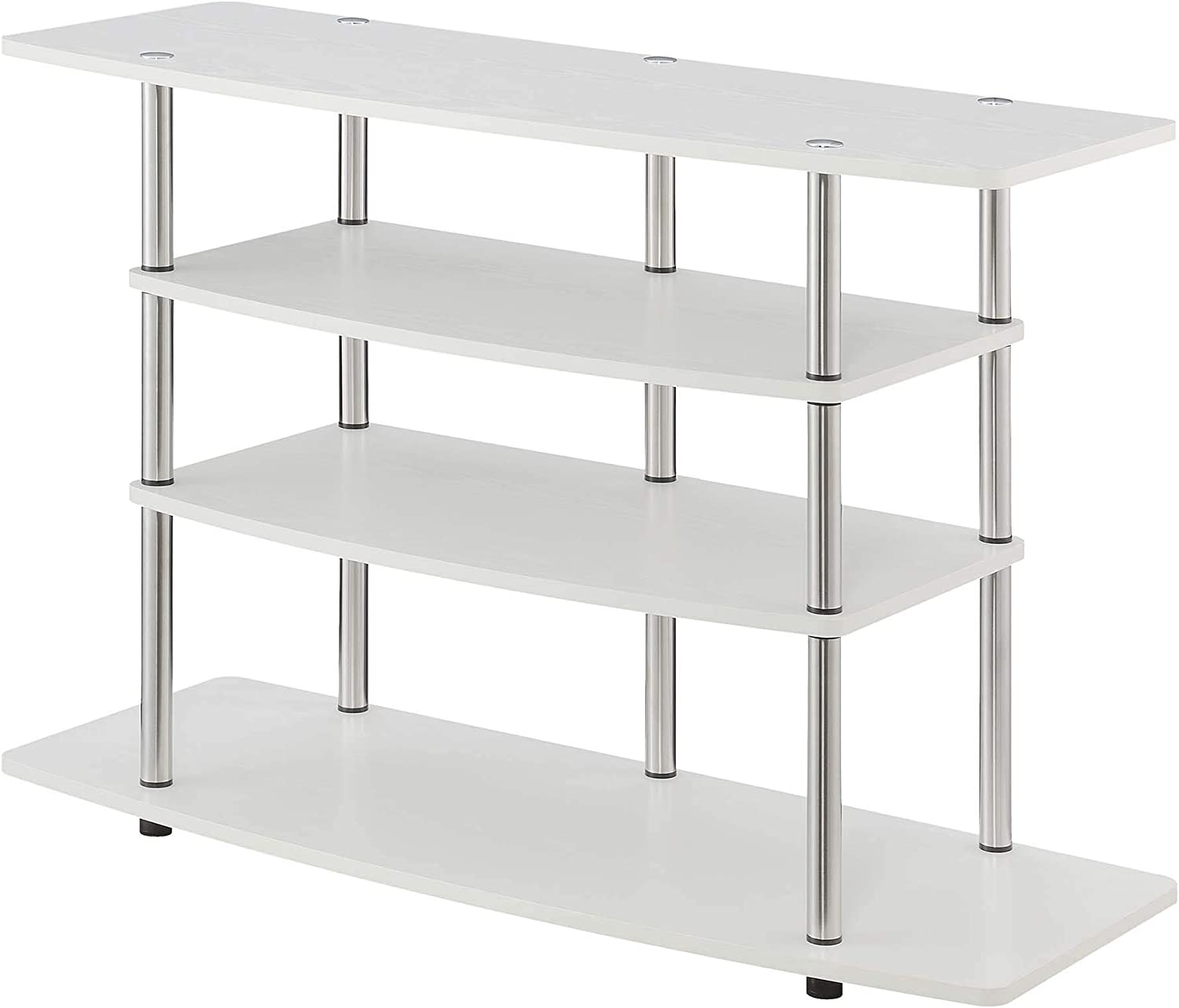 Convenience Concepts Designs2Go Tools Wide Highboy TV Stand, White