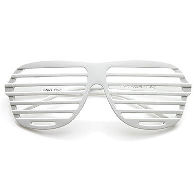 d392b4ea26d zeroUV - Shutter Shades Venetian Blind Stronger Kanye Novelty Glasses  (White)  Amazon.co.uk  Clothing