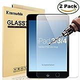 [2 Pack] iPad 2 3 4 Glass Screen Protector, Emmabin 0.26mm 9H Tempered Shatterproof Glass Screen Protector Anti-Shatter Film for Apple iPad 2 / iPad 3 / iPad 4