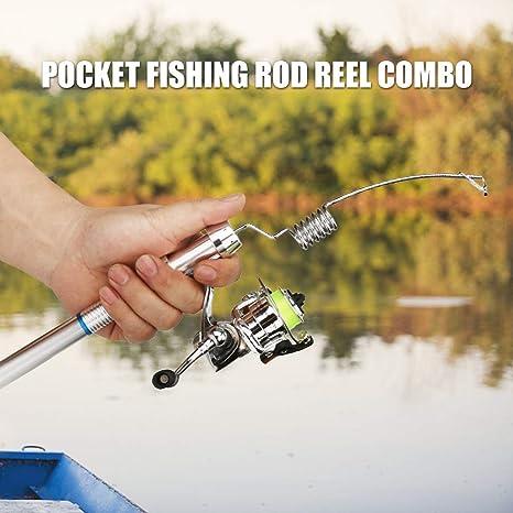 Ksodgun 38 cm Bolsillo caña de Pescar Desmontable caña de Pescar ...