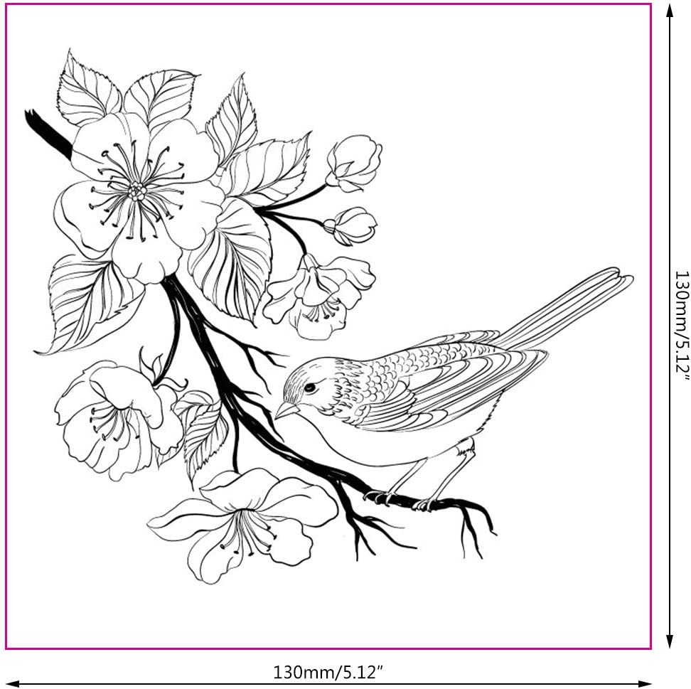 Butterfly Flower Bird Transparent Silicone Clear Rubber Stamp Scrapbooking DIY
