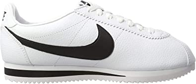 Nike Zapatillas Classic Cortez Leather WhiteBlack, Baskets Mixte Adulte