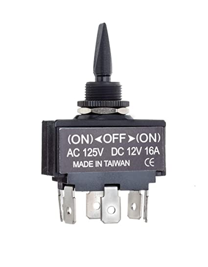 Amazon.com : SEACHOICE 12031 3-Position Toggle Switch Momentary On ...