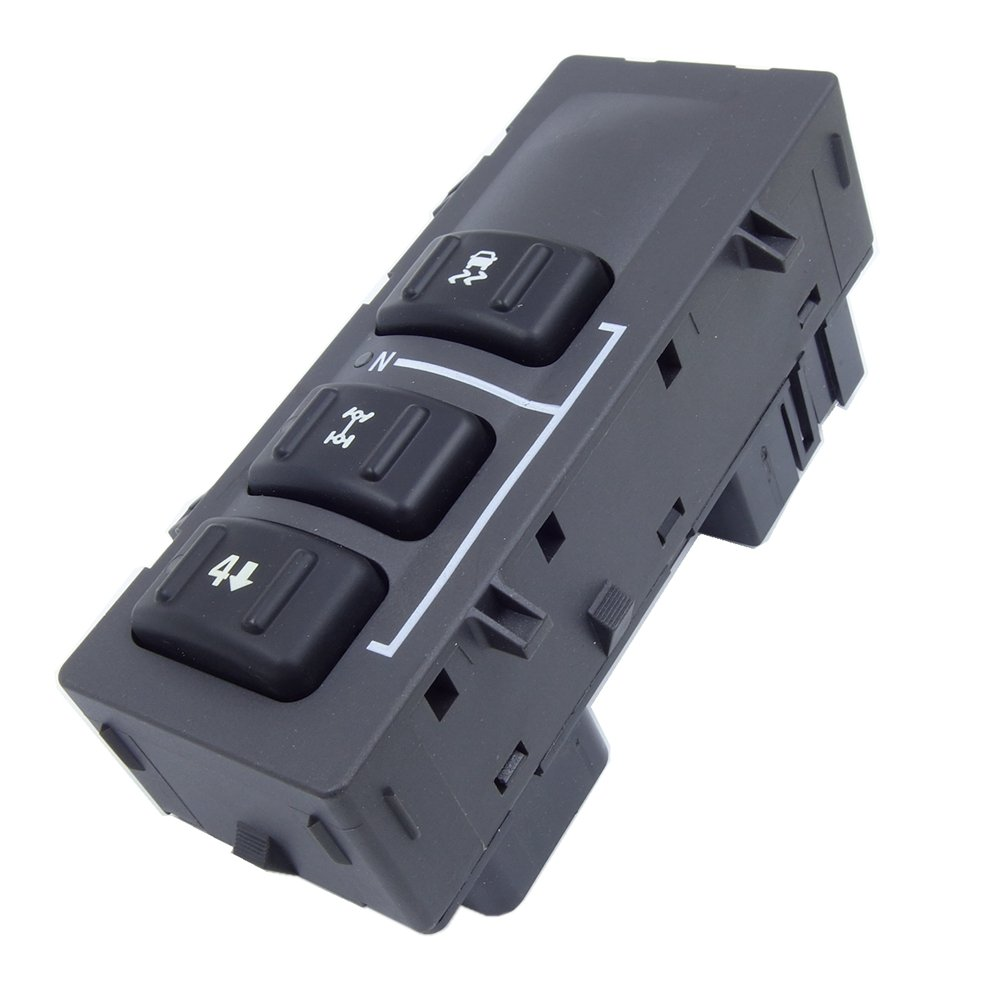 1X AWD 2-Speed Transfer Case Selector Dash Control Switch for 2001-2002 Chevrolet & 1998-2002 GMC 15164518 ElifeParts