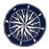 Cheap Compass Navy 3 Foot Round Indoor or Outdoor Rug