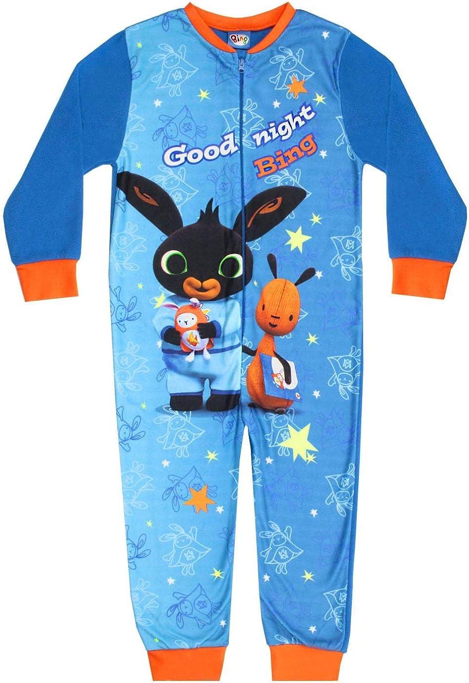 Bing Bunny CBeebies and Flop Good Night Bing Boys Fleece Character Onesie