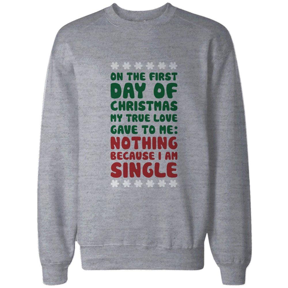True Love Gave to Me Nothing Funny Christmas Sweatshirt Snowflakes ...