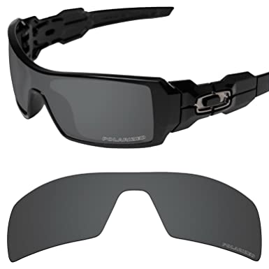 26f18930d5 Tintart Performance Lenses Compatible with Oakley Oil Rig Polarized  Etched-Carbon Black