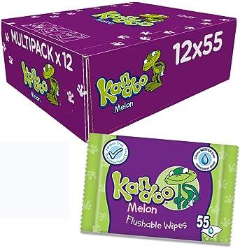 Kandoo - Recambio de toallitas húmedas con aroma de melón – Pack de 12, total de 660 toallitas: Amazon.es: Salud y cuidado personal
