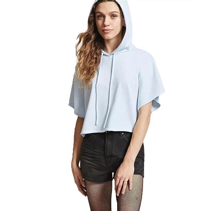 outlet store sale 78f6a c3403 Magliette Donna Tumblr Casuale Felpa Maniche Corte con ...